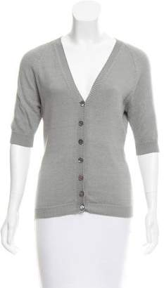 Dolce & Gabbana V-Neck Button-Up Cardigan