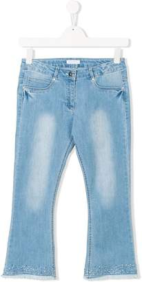 Elsy TEEN embellished frayed jeans