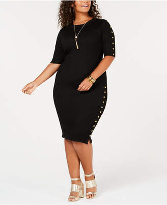 Say What Trendy Plus Size Sweater Dress