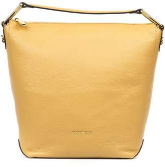 Coccinelle Camel Leather Tote