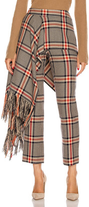 Monse Apron Plaid Pant in Multi Plaid | FWRD
