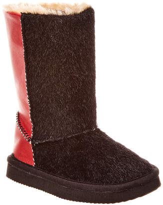 L'amour Two Tone Furry Boot