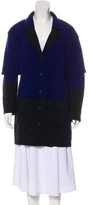 Oscar de la Renta Virgin Wool-Blend Coat w/ Tags