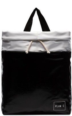 Plan C two-tone tote bag