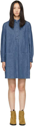 A.P.C. Indigo Bib Front Dress