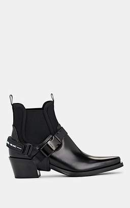 Prada Women's Harness-Strap Leather Chelsea Boots - Nero