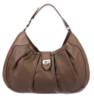 Salvatore Ferragamo Roxanne Leather Hobo