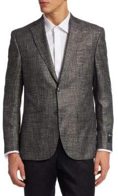 Saks Fifth Avenue COLLECTION Textured Bamboo Jacket