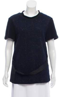 3.1 Phillip Lim Embroidered Wool-Blend Top