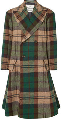 Vivienne Westwood Oversized Double-breasted Wool-tweed Coat - Green