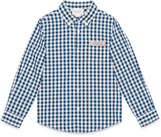 Children's check cotton shirt $380 thestylecure.com