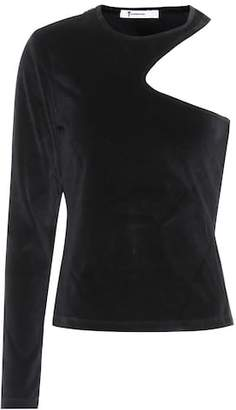 Alexander Wang Velvet one-shoulder top