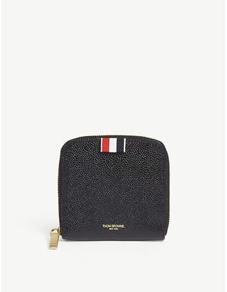 Thom Browne Pebbled leather zip-around wallet