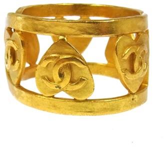 CC Logos Heart Motif Gold Bangle