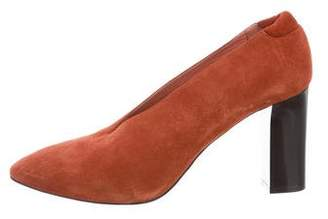 Acne Studios Semi-Pointed Toe Suede Pumps