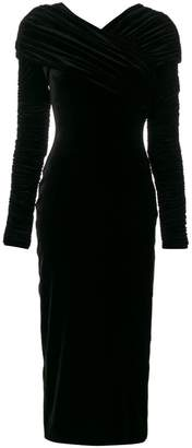 Christopher Kane stretch velvet long sleeve dress