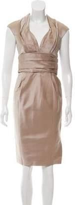 J. Mendel Satin Knee-Length Dress