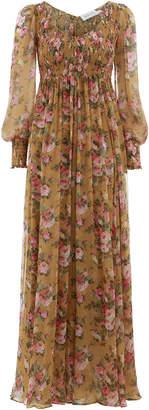 Zimmermann Golden Shirred Dress