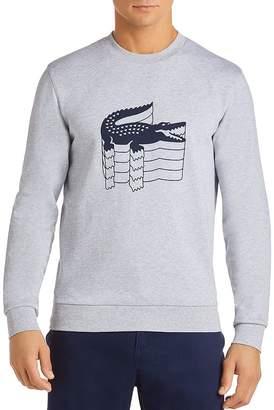 Lacoste Stacked Logo Graphic Fleece Sweatshirt
