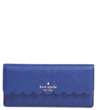 Women's Kate Spade New York Morris Lane Alli Leather Wallet - Blue $148 thestylecure.com