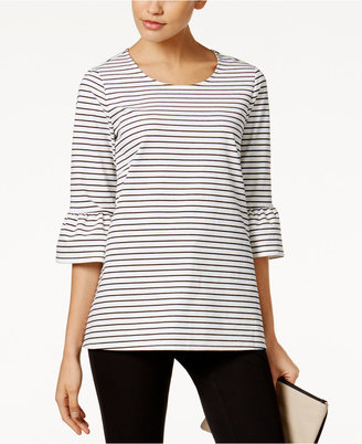 Alfani Ruffle-Sleeve Top, Only at Macy's $69.50 thestylecure.com