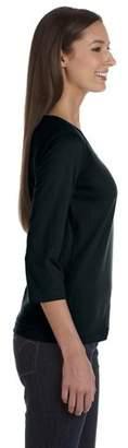 Ringspun Lat LAT Women's V-Neck 3/4 Sleeve T-Shirt