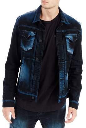 True Religion Dylan Distressed Denim Jacket