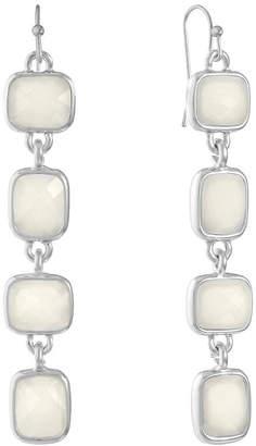 Liz Claiborne White Square Drop Earrings