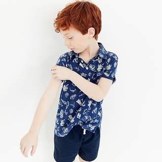 J.Crew Boys' beach-print polo shirt