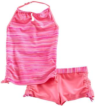 Free Country Girls 4-16 Space-Dyed Halter Tankini Top & Shorts Swimsuit Set