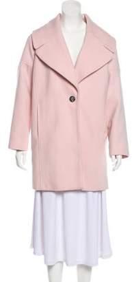 Calvin Klein Collection Notch-Lapel Short Coat