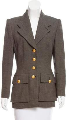 Rena Lange Notch-Collar Wool Jacket