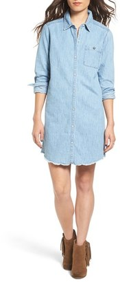 Roxy 'Cat Island' Chambray Boyfriend Shirtdress $69.50 thestylecure.com