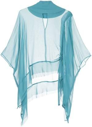 Taylor flared sheer blouse