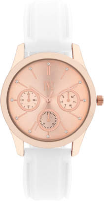 INC International Concepts I.N.C. Women's White or Blush Silicone Strap Watch 36mm, Created for Macy's