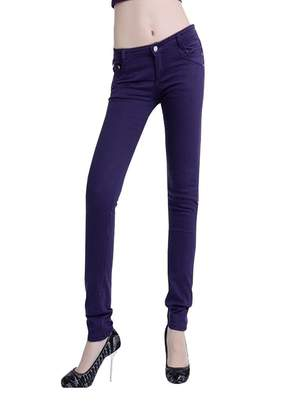 Wxian Jean Wxian Women's Solid Color Comfortable Stretch Jeans