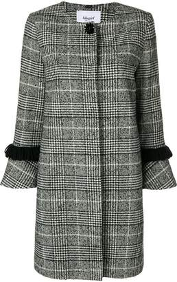 Blugirl fringed check coat