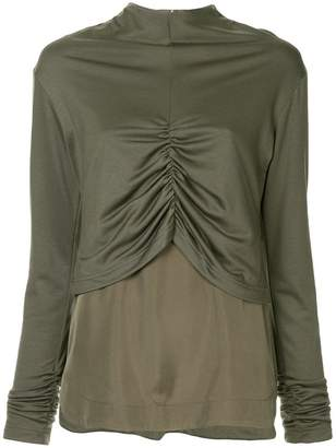 G.V.G.V. shirring detail layered top