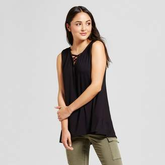 Alison Andrews Women's V-Neck Cross Back Tank Black $19.99 thestylecure.com