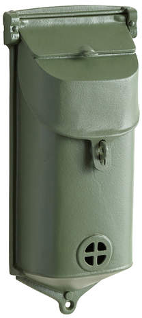 Rejuvenation Cast Iron Revival-Style Mailbox w/ Green Finish