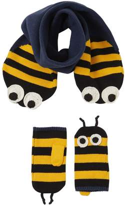 Stella McCartney Bees Cotton Blend Scarf & Mittens