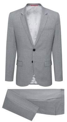 HUGO Boss Italian Wool Suit, Extra Slim Fit Arti/Hesten 42L Open Grey