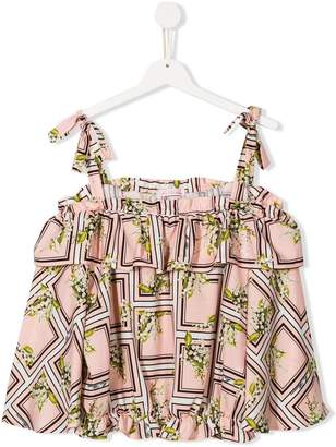 Miss Blumarine printed strappy top