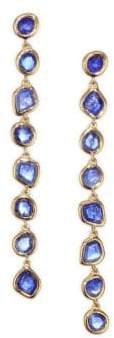 Monica Vinader Siren Kyanite& 18K Gold-Plated Drop Earrings