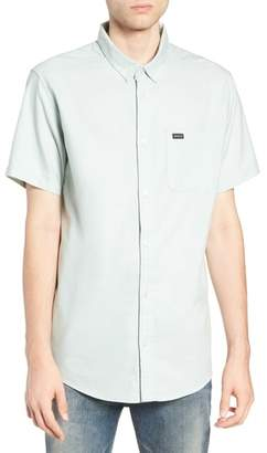 RVCA 'That'll Do' Slim Fit Short Sleeve Oxford Shirt