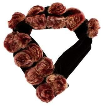 Velvet Fur-Accented Collar