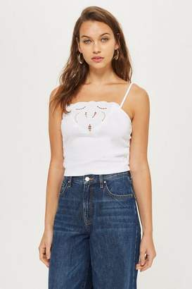 Topshop Cut Out Trim Camisole Top