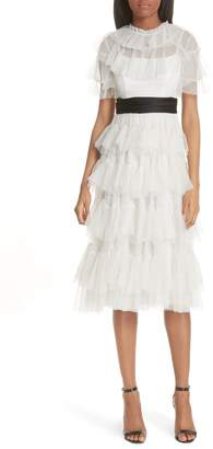 Needle & Thread Tiered Tea Length Tulle Dress