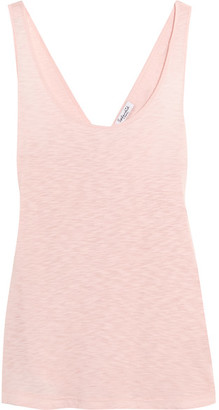 Splendid - Crossover-back Slub Supima Cotton And Micro Modal-blend Tank - Pastel pink $80 thestylecure.com