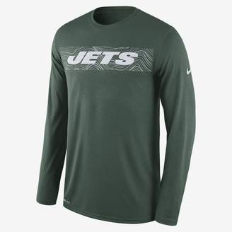 Nike Dri-FIT Legend Seismic (NFL Jets) Men's Long Sleeve T-Shirt